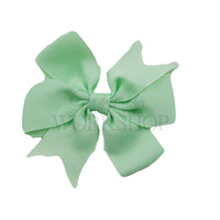 "Mint Green - 3"" Pinwheel Ribbon Bow"