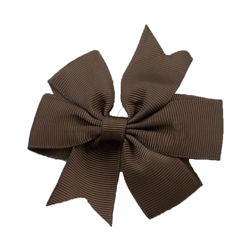 Brown - Pinwheel Ribbon Bow