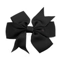"Black - 3"" Pinwheel Ribbon Bow"