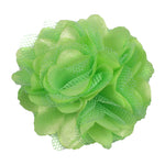 "Neon Green - 2"" Satin & Mesh Flower"