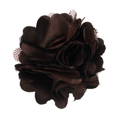 "Brown - 2"" Satin & Mesh Flower"