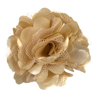 "Tan - 2"" Satin & Mesh Flower"