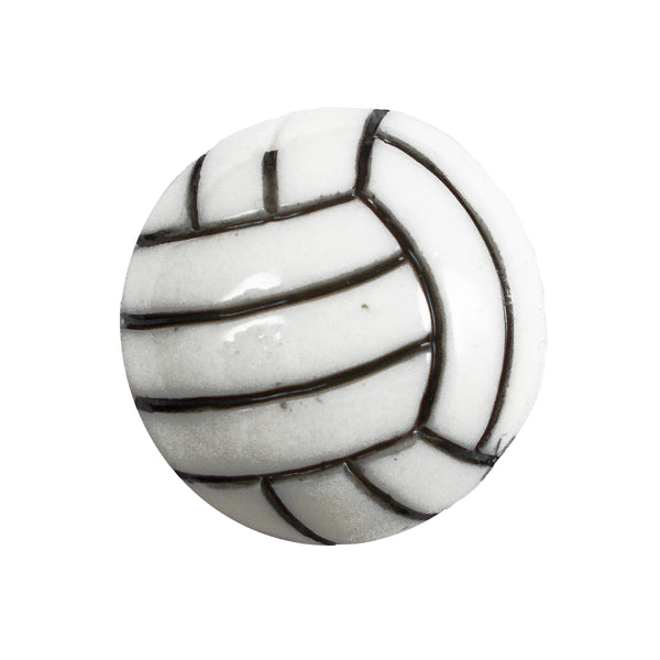 "Volleyball - 1"" Flatback Resin Applique"