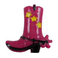 "Cowgirl Boot - 1"" Flatback Resin Applique"
