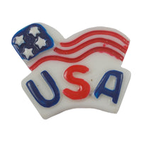 "USA - 1"" Flatback Resin Applique"