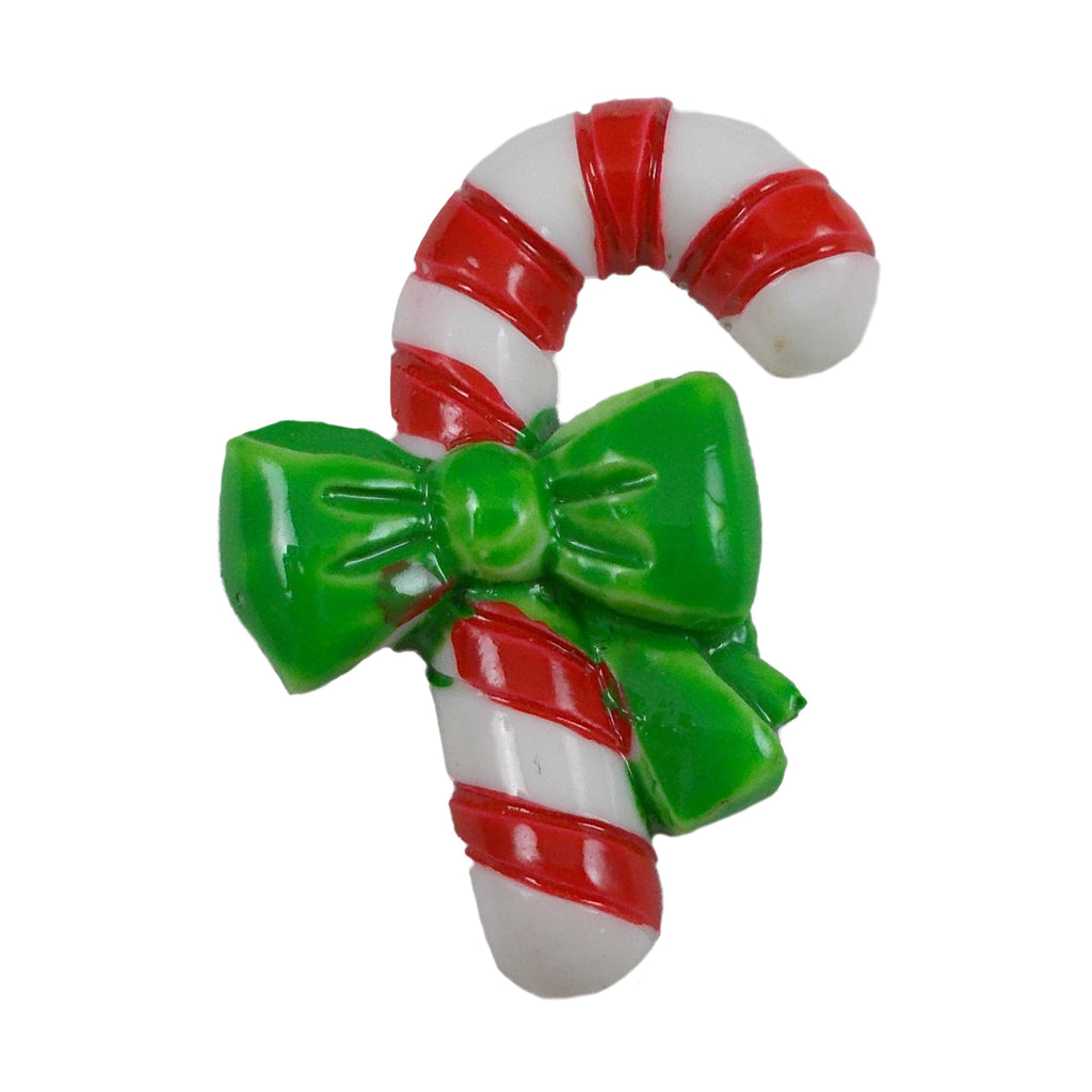 "Red & White Candy Cane - 1"" Flatback Resin"
