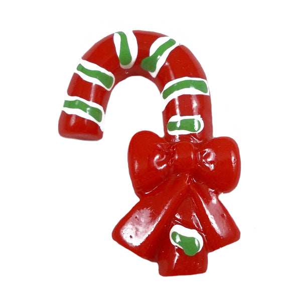 "Candy Cane - 3/4"" Flatback Resin Applique"