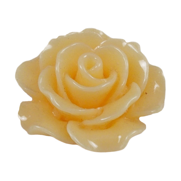 "Creamsicle Cabochon Rose - 3/4"" Flatback Resin Applique"