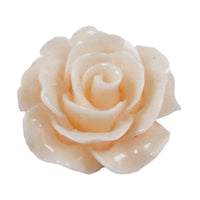 "Pale Peach Cabochon Rose - 3/4"" Flatback Resin Applique"