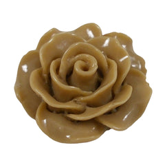 "Beige Cabochon Rose - 3/4"" Flatback Resin Applique"