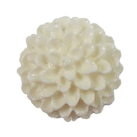 "White Cabochon - 3/4"" Flatback Resin Applique"