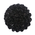 "Black Cabochon Rose - 3/4"" Flatback Resin Applique"