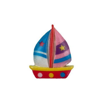 "1"" Sailboat - Flatback Resin Applique"