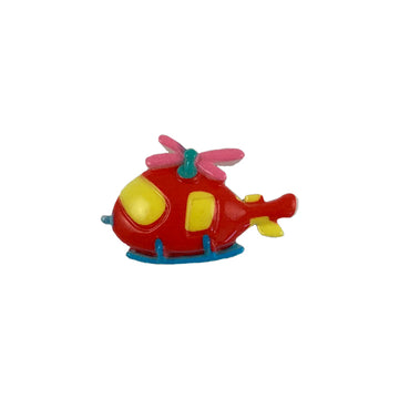 "1.25"" Helicopter - Flatback Resin Applique"
