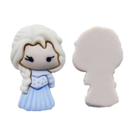 "Small Princess #11 - 7/8"" Resin Applique"