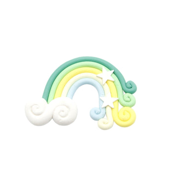 "Green Rainbow - 2"" Polymer Clay"