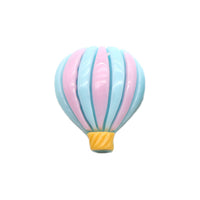 "Light Blue & Lavender Hot Air Balloon - 1"" Resin"