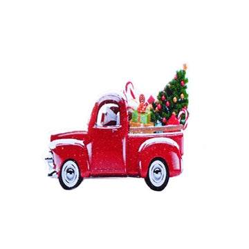 "1.75"" Holiday Truck - Acrylic Resin Applique"