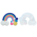 "1.25"" Blue Rainbow - Jelly Resin Applique"