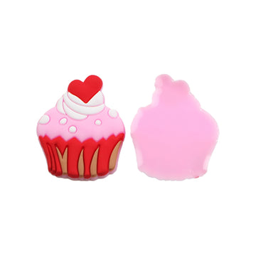 "1.25"" Sprinkled with Love - Cupcake - Jelly Resin Applique"