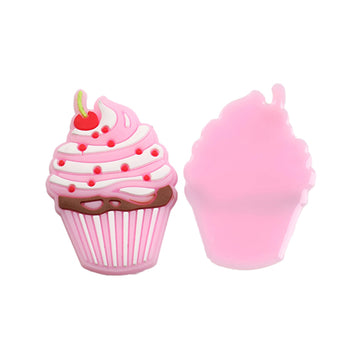 "1.5"" Cherry on Top - Cupcake - Jelly Resin Applique"