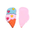 "1 3/8"" Double Scoop Ice Cream Cone - Jelly Resin Applique"