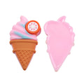 "1 3/8"" Twisted Ice Cream Cone - Jelly Resin Applique"