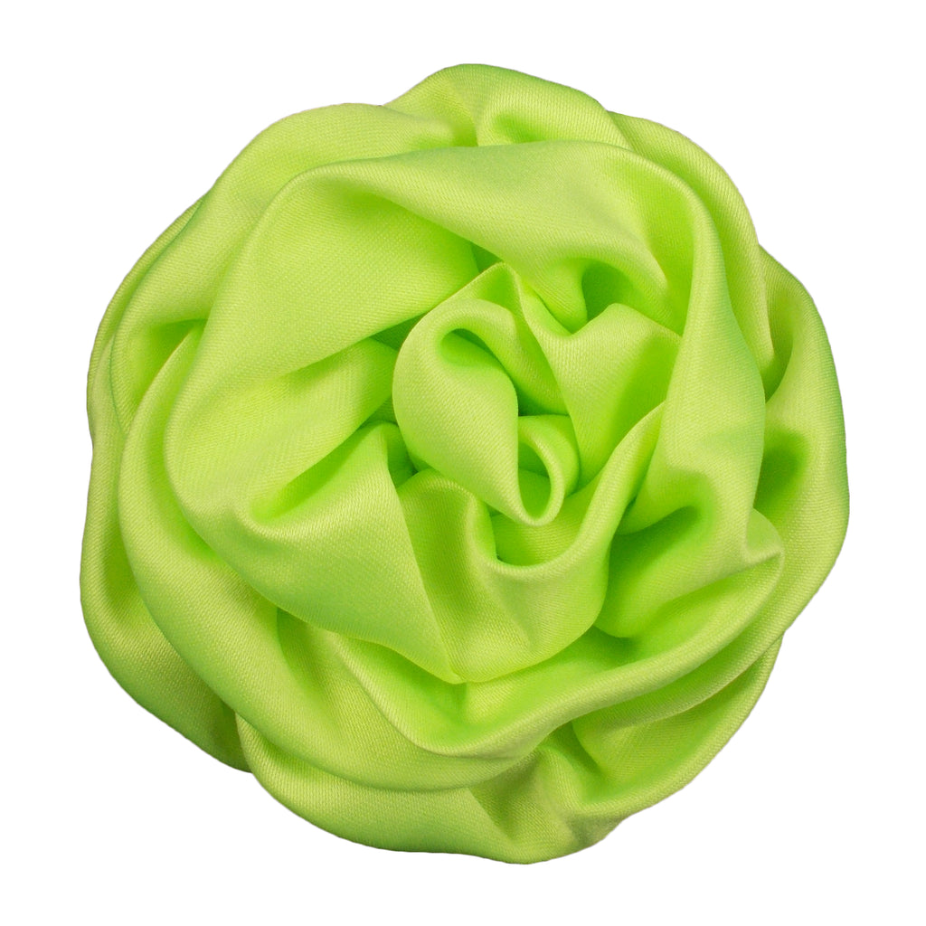 "Neon Green - 3"" Rolled Matte Flower"