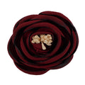 "Burgundy - 2.25"" Antique Satin Rose"