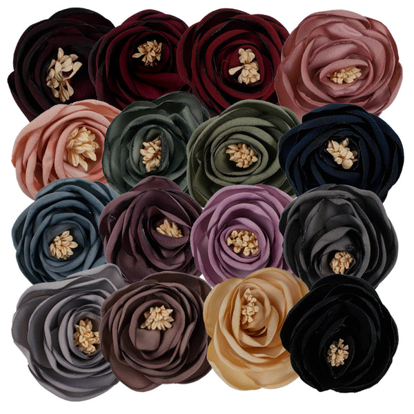 "Merlot - 2.25"" Antique Satin Rose"
