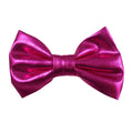"Hot Pink - 3"" Shiny Metallic Bow"