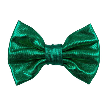 "Green - 3"" Shiny Metallic Bow"