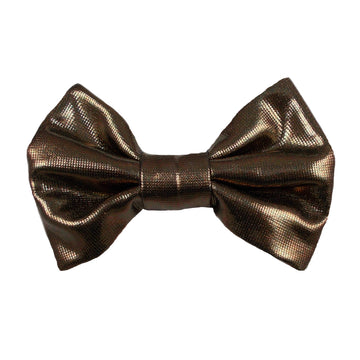 "Brown - 3"" Shiny Metallic Bow"