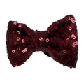 "Wine - 4"" Sequin Bow"