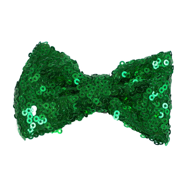 "Green - 3"" Sequin Bow"