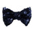 "Navy Blue - 3"" Sequin Bow"