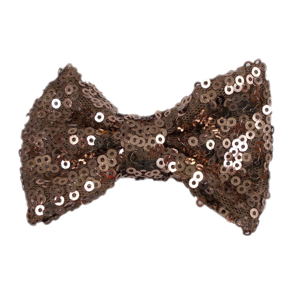 "Champagne - 3"" Sequin Bow"