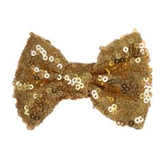 "Gold - 3"" Sequin Bow"