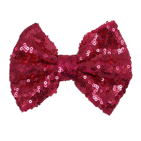 "Hot Pink - 5"" XL Sequin Bow"