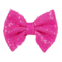 "Neon Pink - 5"" XL Sequin Bow"