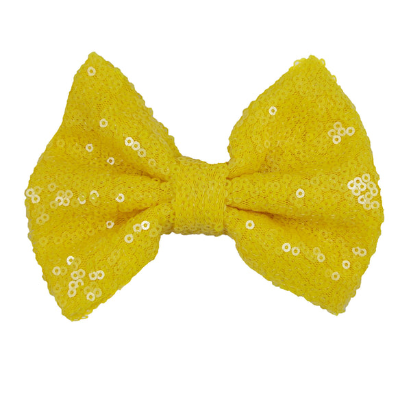 "Yellow - 5"" XL Sequin Bow"