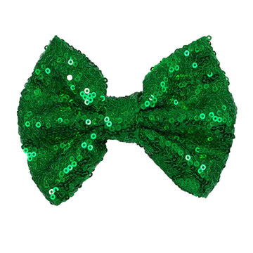 "Green - 5"" XL Sequin Bow"