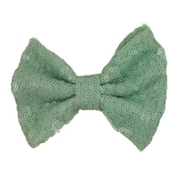 "Sea Foam - 5"" XL Sequin Bow"