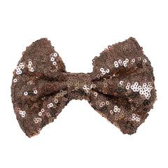 "Champagne - 5"" XL Sequin Bow"
