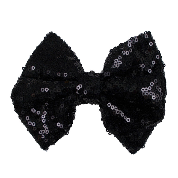 "Black - 5"" XL Sequin Bow"