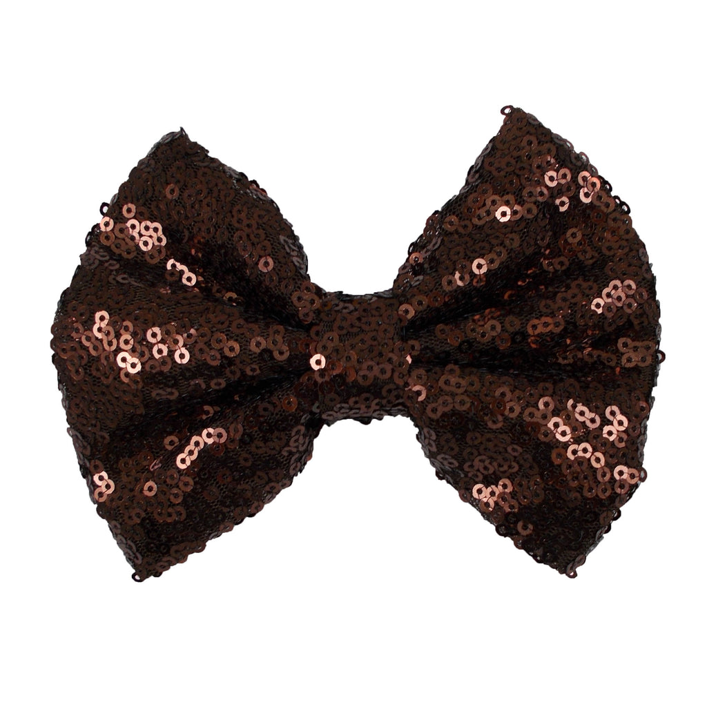 "Brown - 5"" XL Sequin Bow"