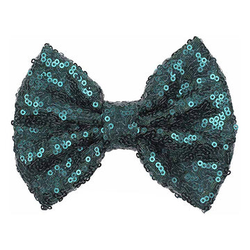 "Emerald Green - 5"" XL Sequin Bow"