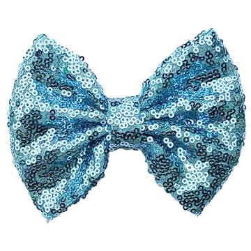 "Cinderella Blue - 5"" XL Sequin Bow"