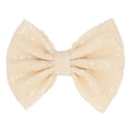 "Cream Matte - 5"" XL Sequin Bow"