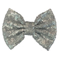 "Gray Matte - 5"" XL Sequin Bow"